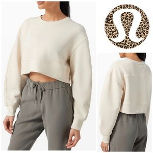 Lululemon Soft Ambitions Crop Crew Sweatshirt